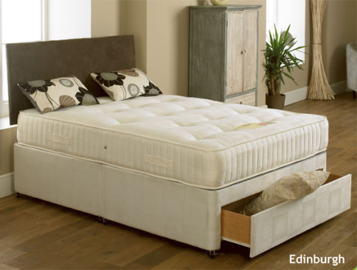 Edinburgh orthopeadic 6ft super kingsize divan set