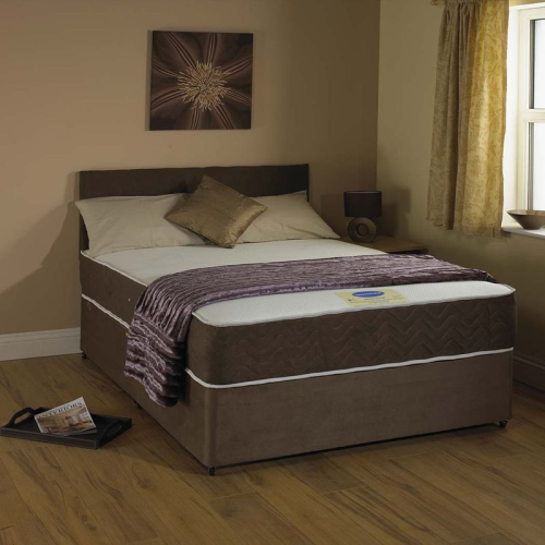 Double divan bed with Memorey foam mattress free local delivery