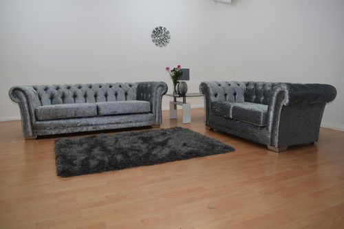 Crushed Velvet Chesterfield 3&2 set